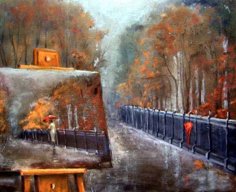 风景油画欣赏 俄罗斯女画家Elena Yushina作品插图23