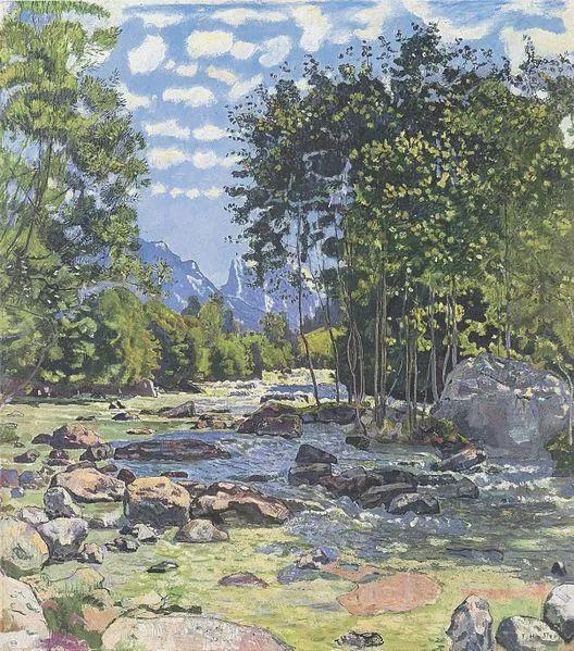 瑞士象征主义画家Ferdinand Hodler (Swiss, 1853–1918)插图23