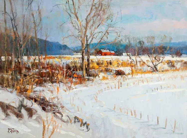 雪景油画欣赏 美国Peter Fiore作品插图3