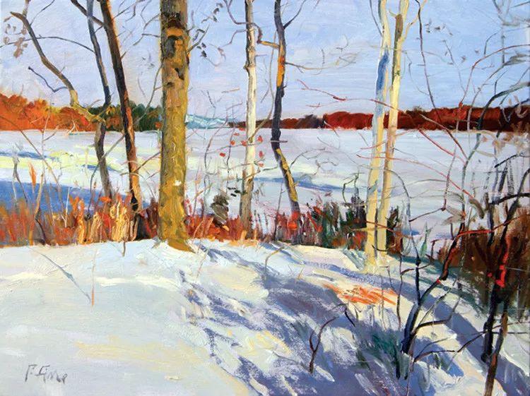 雪景油画欣赏 美国Peter Fiore作品插图5