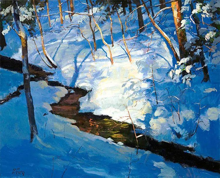 雪景油画欣赏 美国Peter Fiore作品插图7