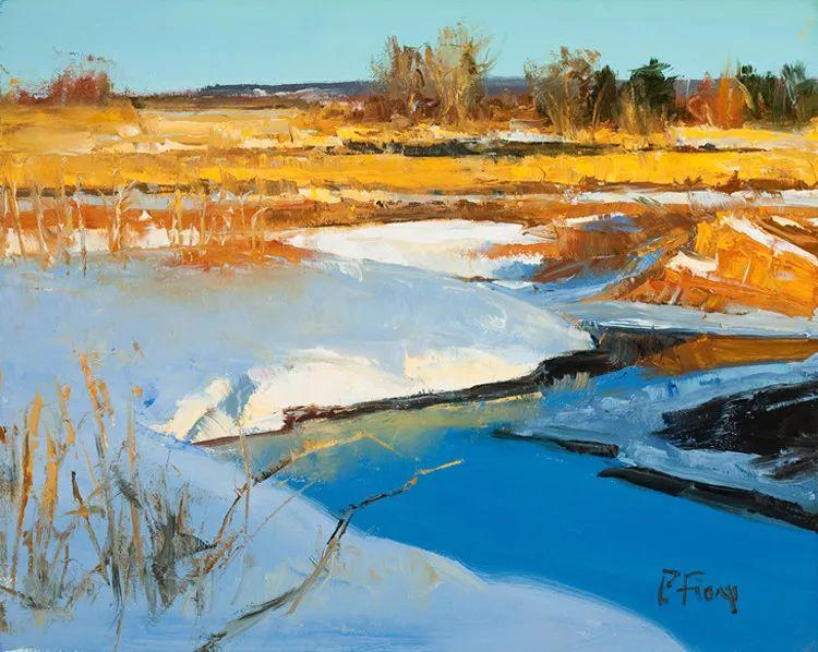 雪景油画欣赏 美国Peter Fiore作品插图9