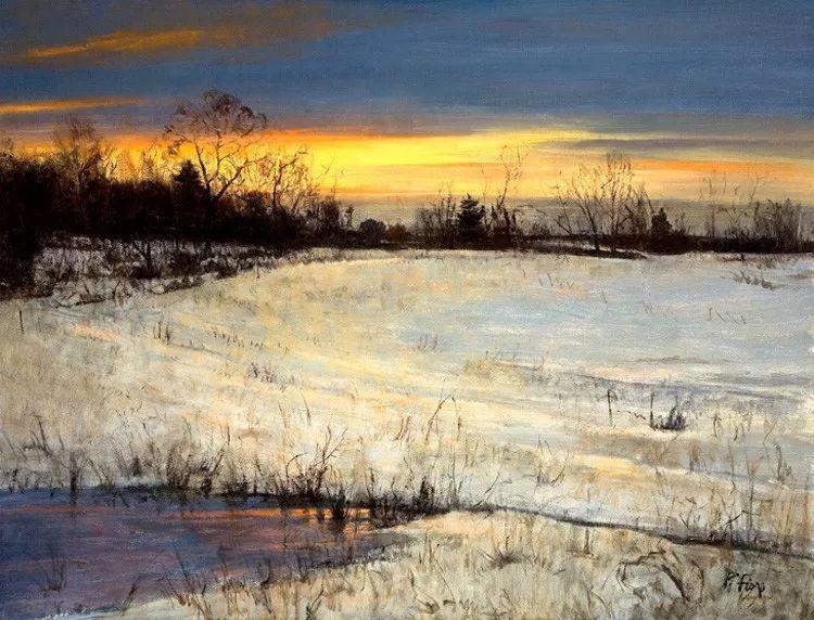 雪景油画欣赏 美国Peter Fiore作品插图13