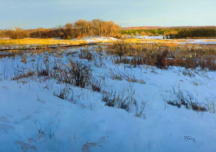 雪景油画欣赏 美国Peter Fiore作品插图17