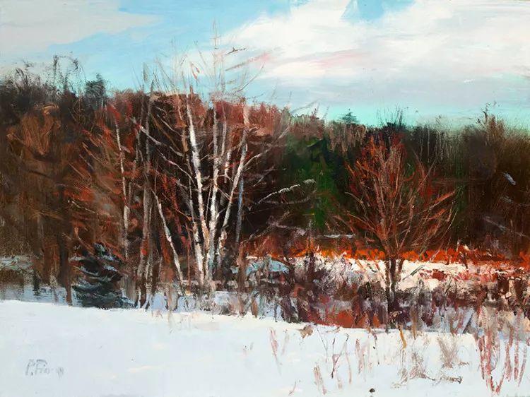 雪景油画欣赏 美国Peter Fiore作品插图21