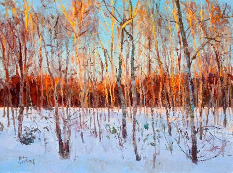 雪景油画欣赏 美国Peter Fiore作品插图23
