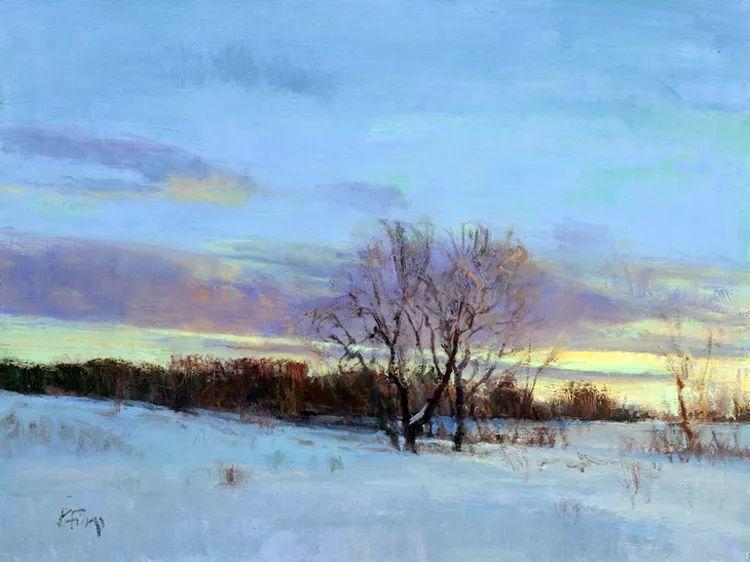 雪景油画欣赏 美国Peter Fiore作品插图25