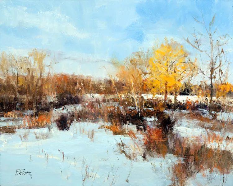 雪景油画欣赏 美国Peter Fiore作品插图27