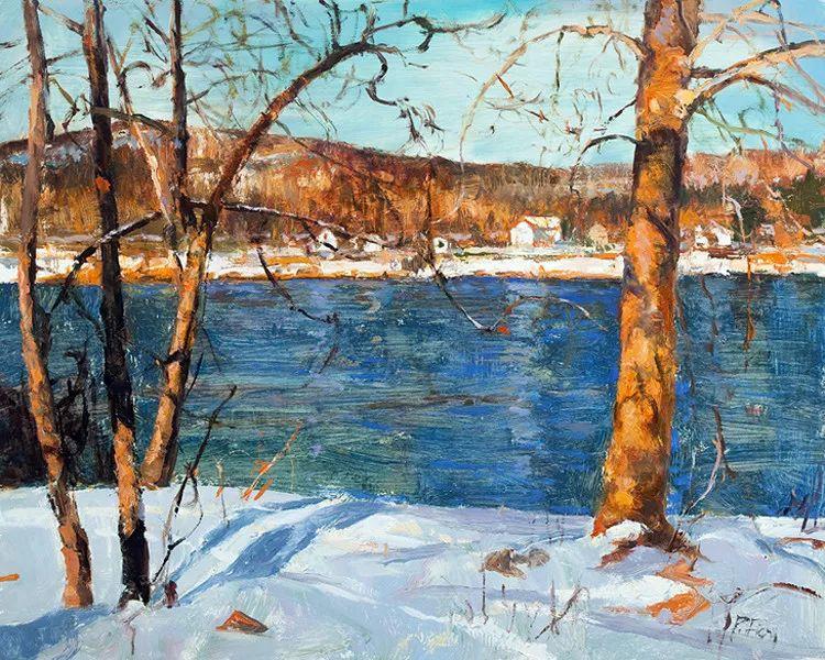 雪景油画欣赏 美国Peter Fiore作品插图29