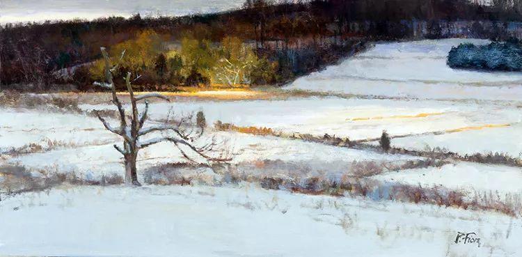 雪景油画欣赏 美国Peter Fiore作品插图37