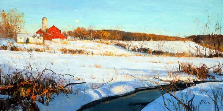 雪景油画欣赏 美国Peter Fiore作品插图39