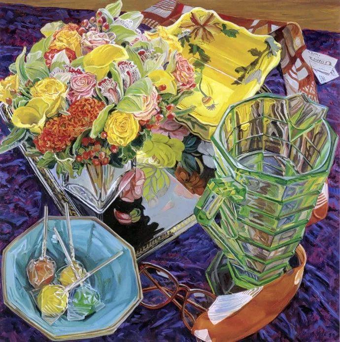 美国画家Janet Fish的靓丽色彩插图1