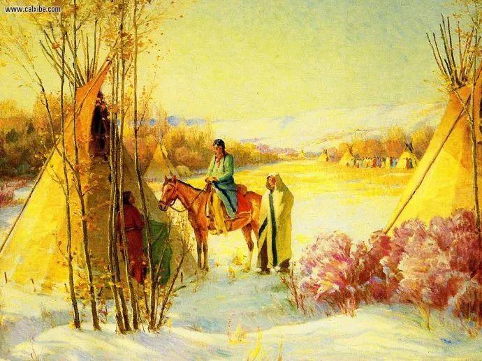 美国画家Joseph Henry Sharp插图1
