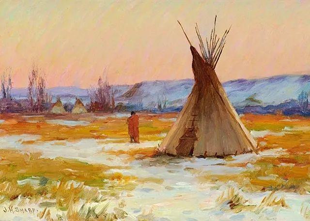 美国画家Joseph Henry Sharp插图2