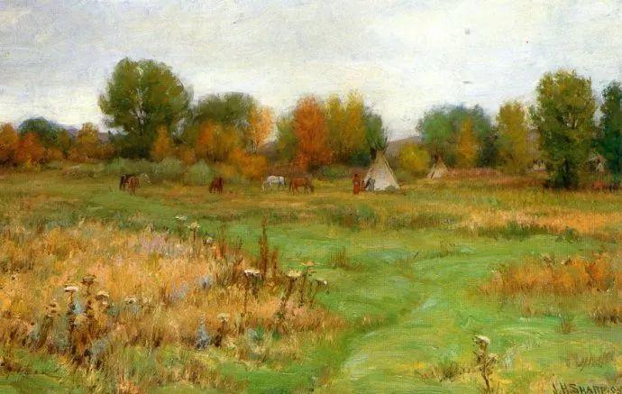 美国画家Joseph Henry Sharp插图9