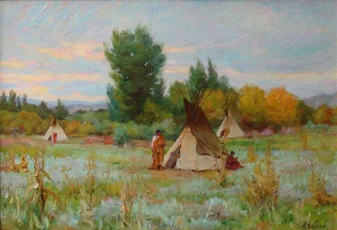 美国画家Joseph Henry Sharp插图16