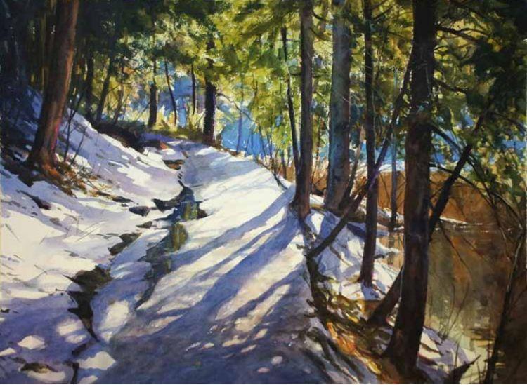 雪景油画 美国Christopher Leeper作品插图3