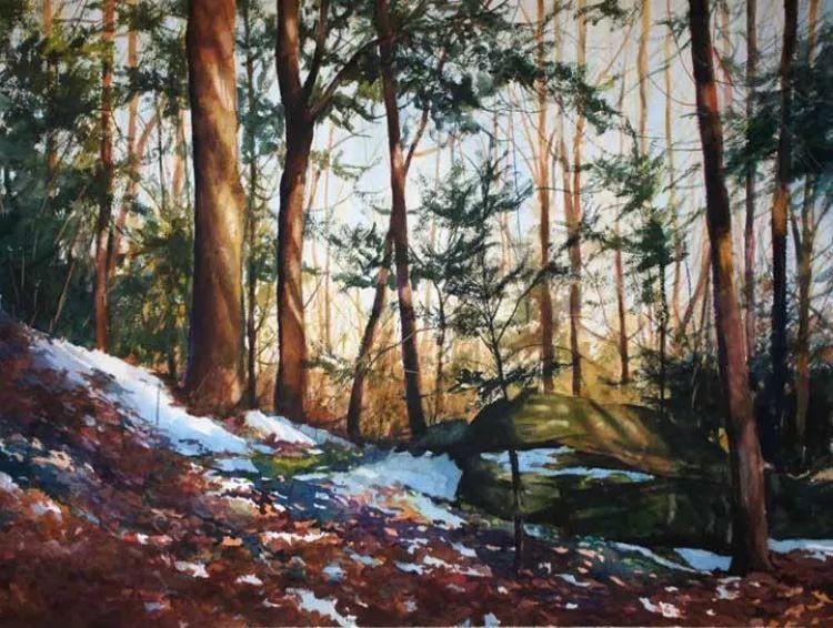 雪景油画 美国Christopher Leeper作品插图5