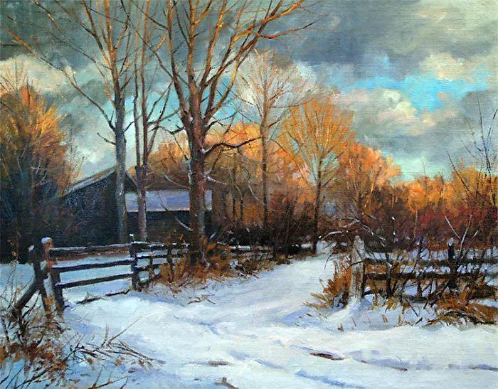 雪景油画 美国Christopher Leeper作品插图7