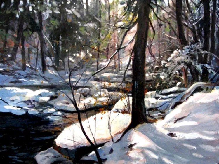 雪景油画 美国Christopher Leeper作品插图9