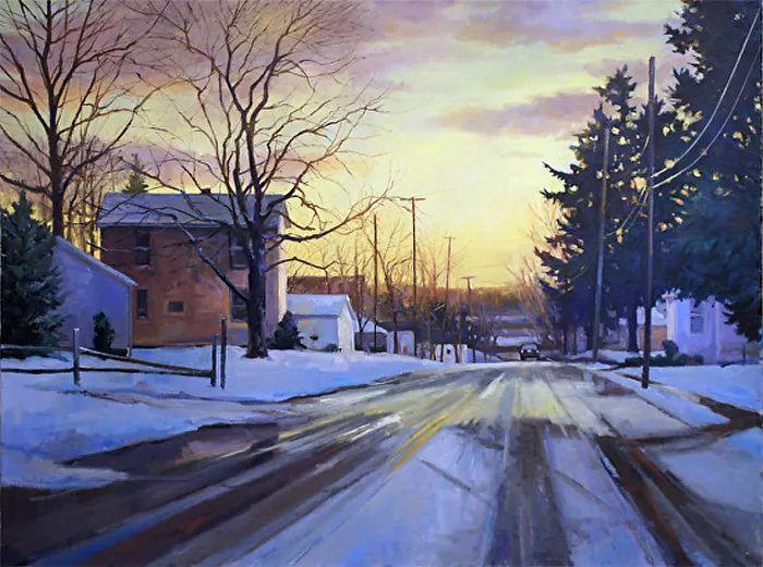 雪景油画 美国Christopher Leeper作品插图11