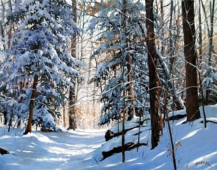 雪景油画 美国Christopher Leeper作品插图15