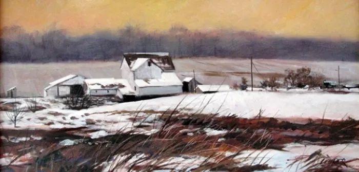 雪景油画 美国Christopher Leeper作品插图19