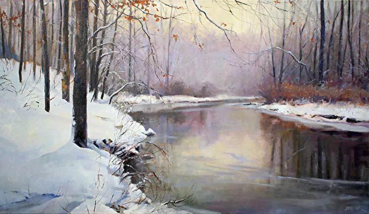 雪景油画 美国Christopher Leeper作品插图23