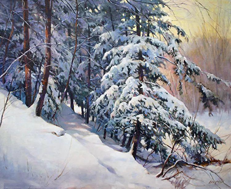 雪景油画 美国Christopher Leeper作品插图25
