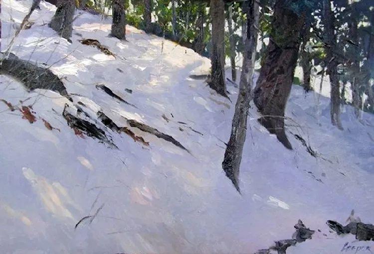 雪景油画 美国Christopher Leeper作品插图27