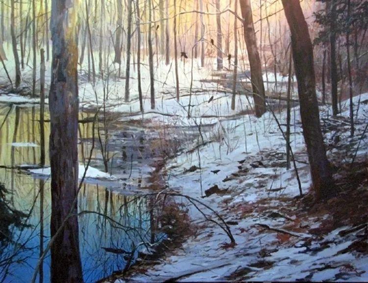 雪景油画 美国Christopher Leeper作品插图31