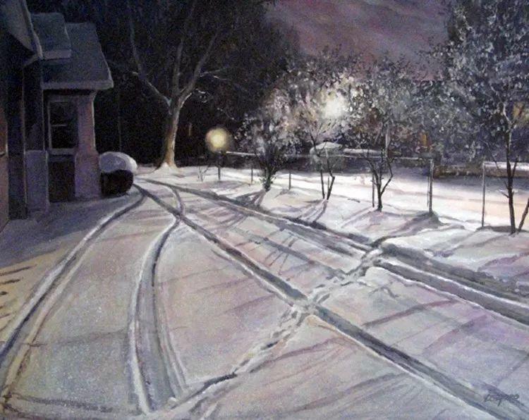 雪景油画 美国Christopher Leeper作品插图33