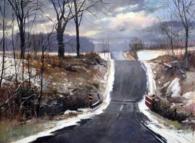 雪景油画 美国Christopher Leeper作品插图35