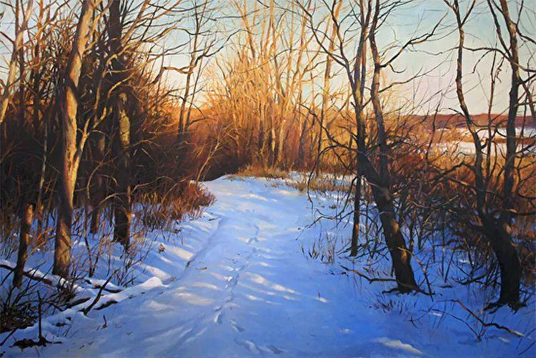 雪景油画 美国Christopher Leeper作品插图39