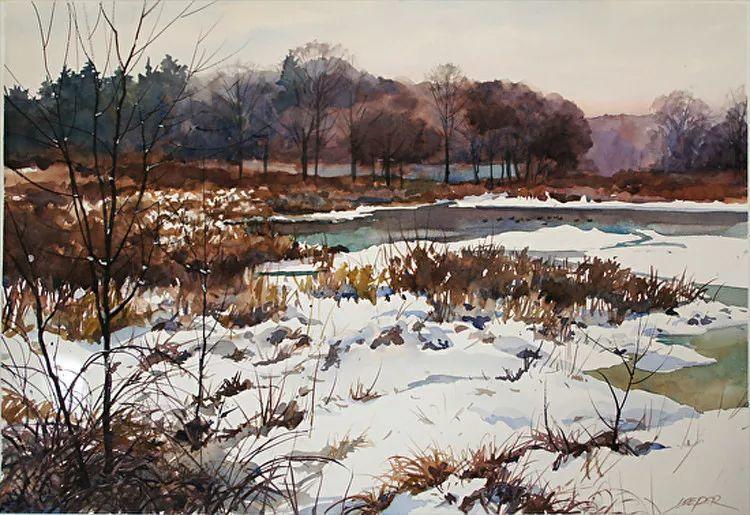 雪景油画 美国Christopher Leeper作品插图43