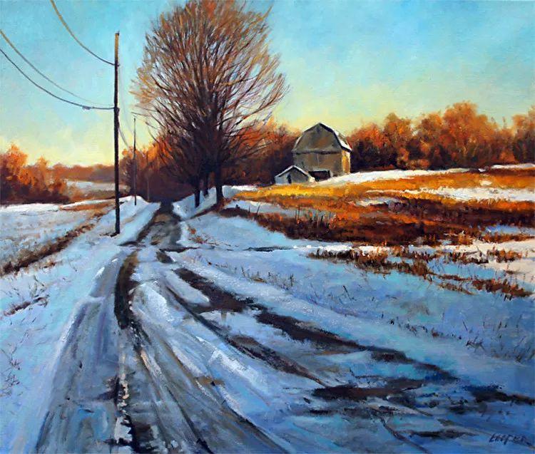 雪景油画 美国Christopher Leeper作品插图45