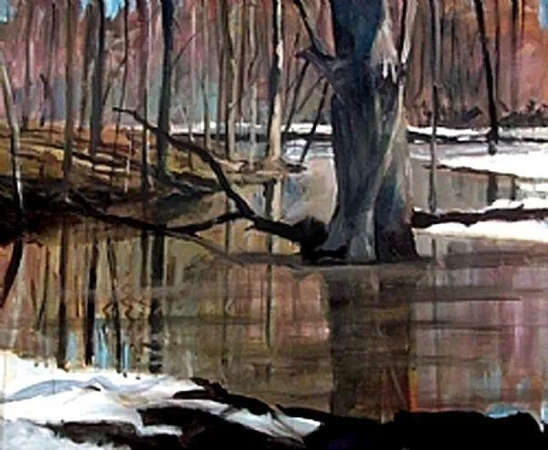 雪景油画 美国Christopher Leeper作品插图47