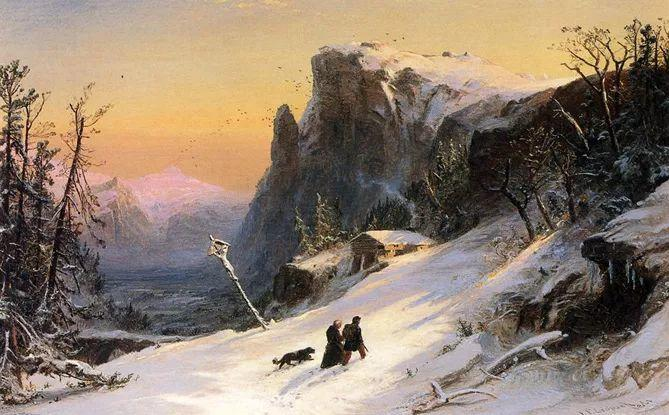 风景画 美国画家Jasper francis cropsey作品四插图