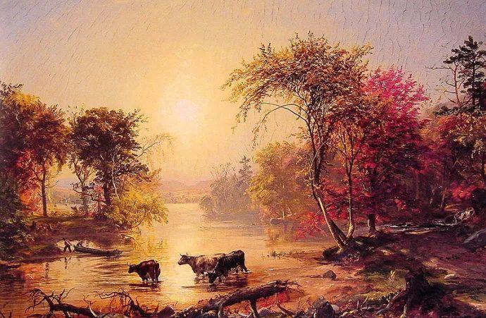 风景画 美国艺术家Jasper francis cropsey作品三插图3