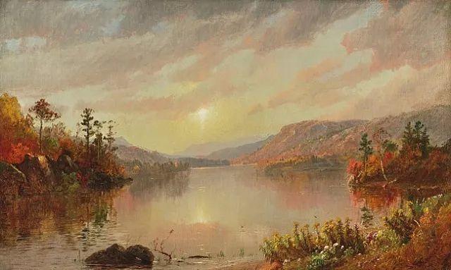 风景画 美国艺术家Jasper francis cropsey作品三插图19