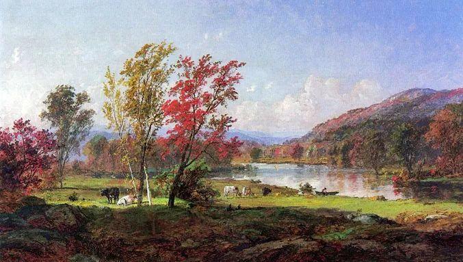 风景画 美国艺术家Jasper francis cropsey作品三插图37