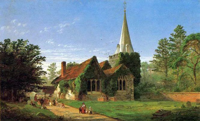 风景画 美国艺术家Jasper francis cropsey作品二插图19
