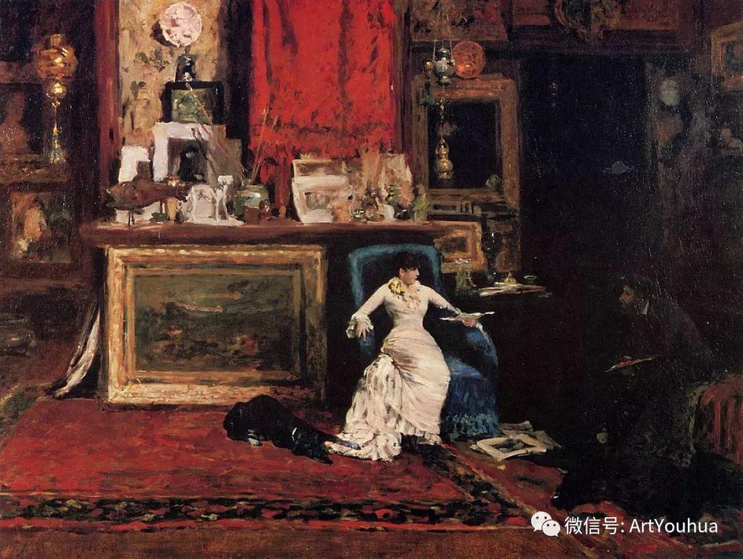 人物风景 美国画家William Merritt Chase作品欣赏插图17