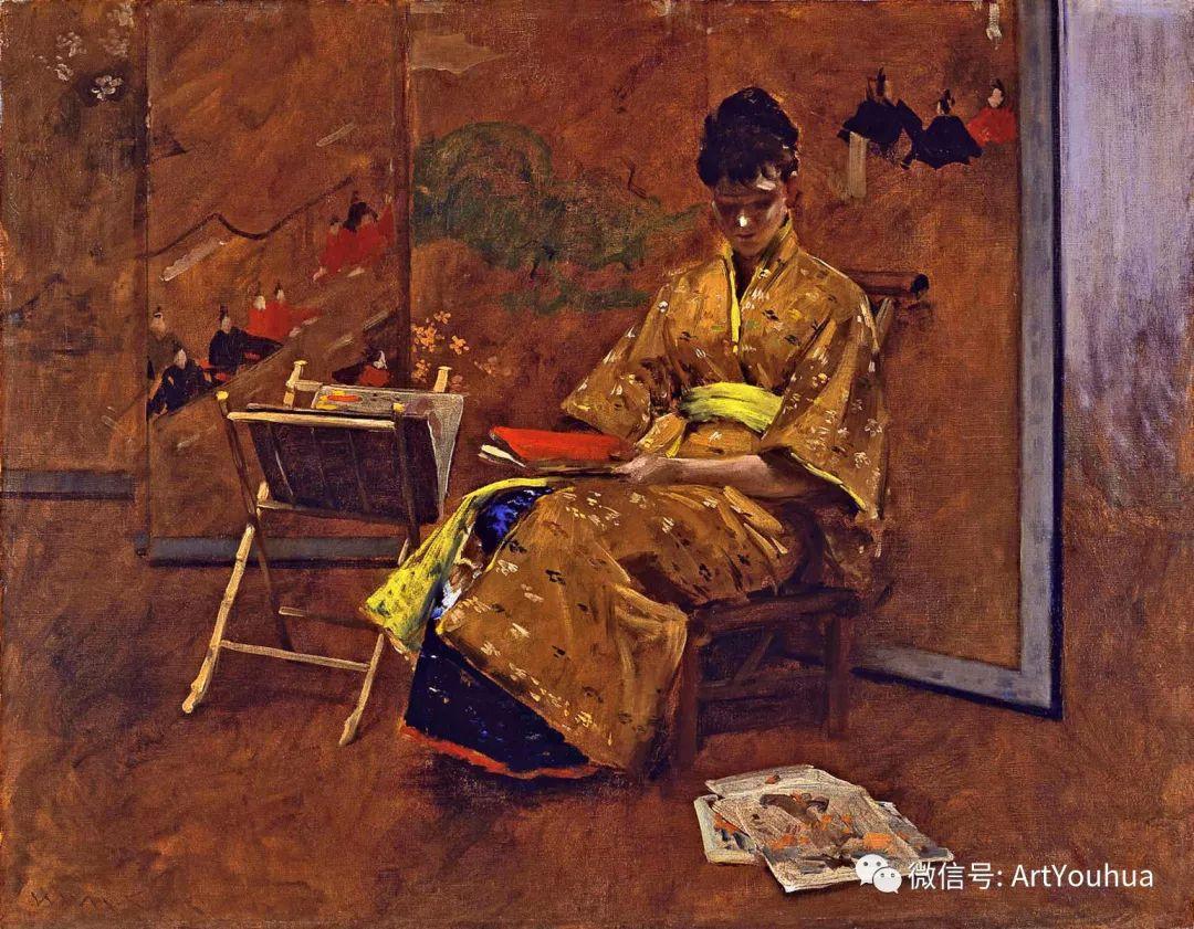 人物风景 美国画家William Merritt Chase作品欣赏插图21