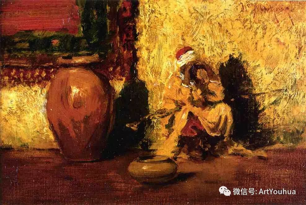 人物风景 美国画家William Merritt Chase作品欣赏插图27