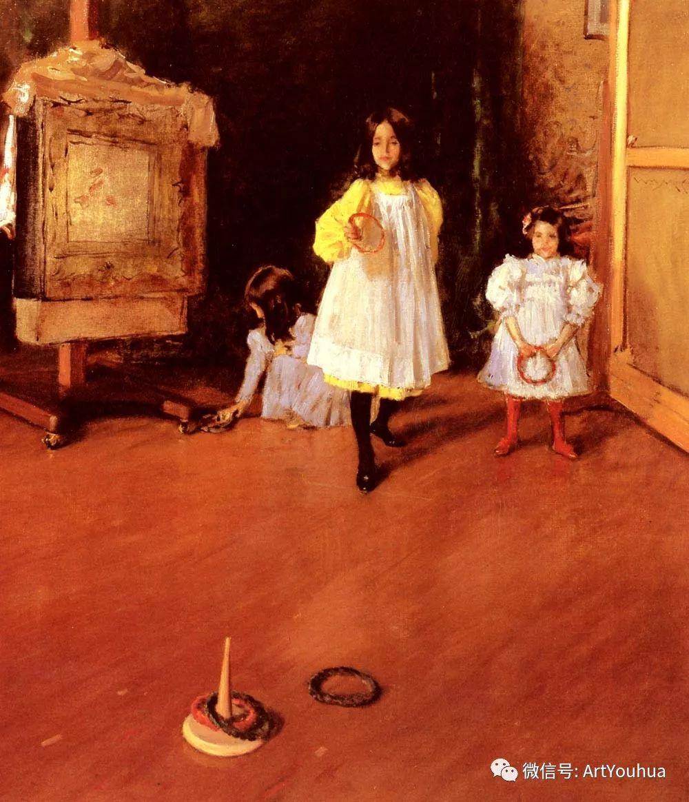 人物风景 美国画家William Merritt Chase作品欣赏插图35