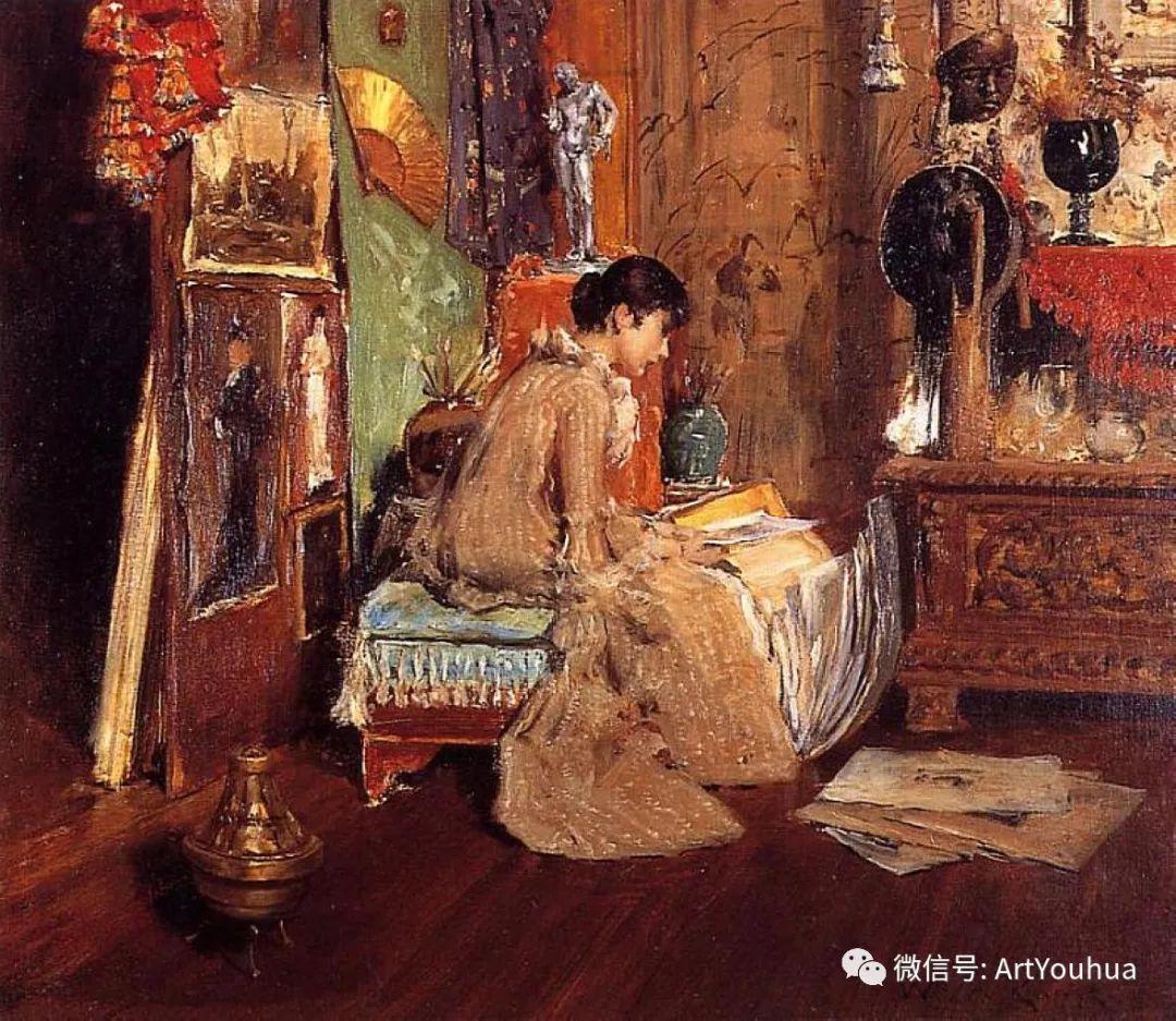 人物风景 美国画家William Merritt Chase作品欣赏插图37