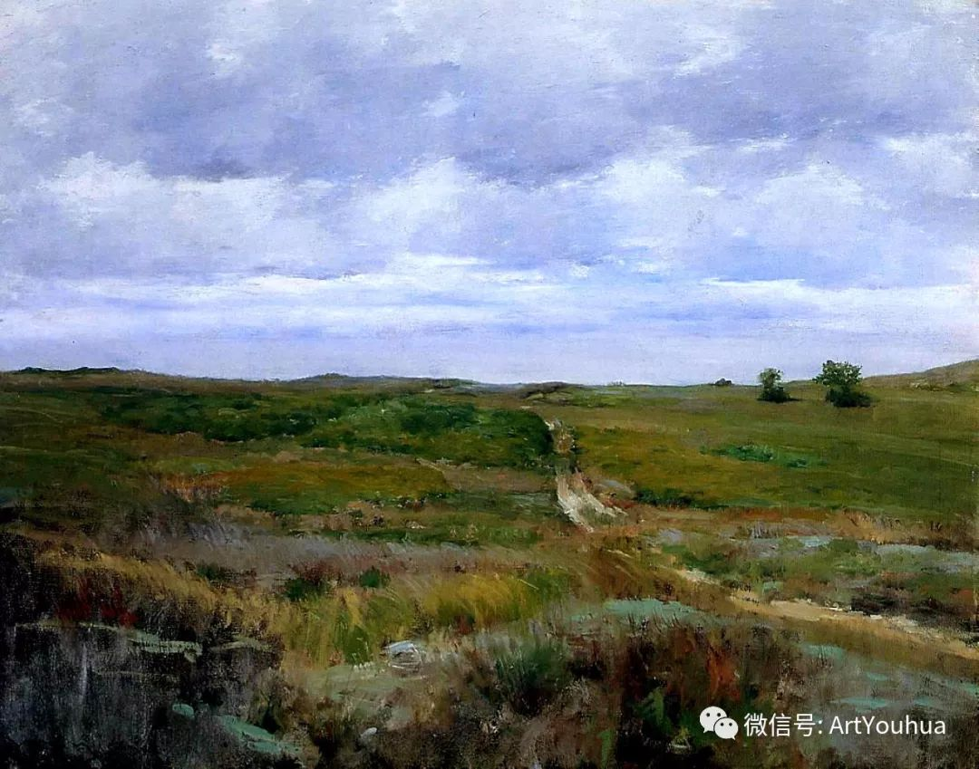 人物风景 美国画家William Merritt Chase作品欣赏插图43