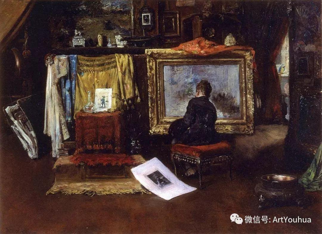 人物风景 美国画家William Merritt Chase作品欣赏插图45