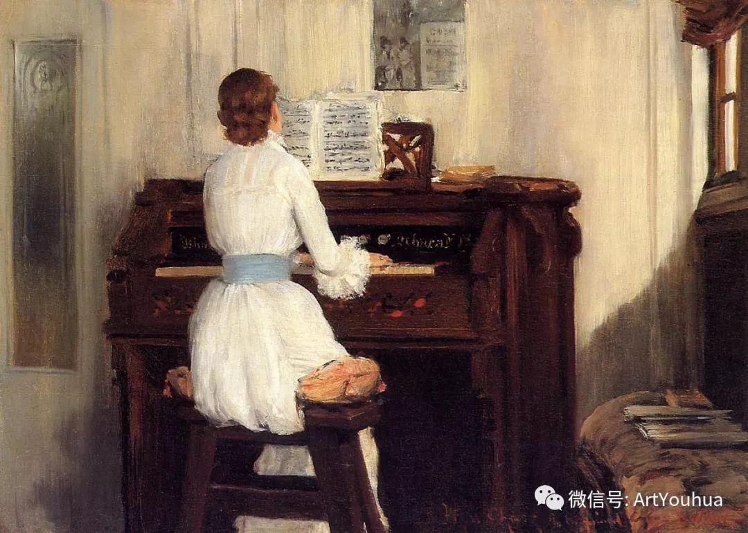 人物风景 美国画家William Merritt Chase作品欣赏插图53